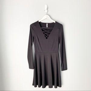 NWOT Xhilaration Strappy long sleeved dress